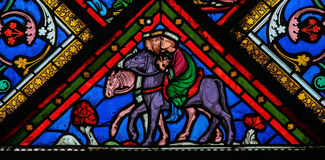 Three Kings - Stained Glass Royalty Free Stock Photos