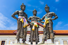 Three Kings Statue Royalty Free Stock Images