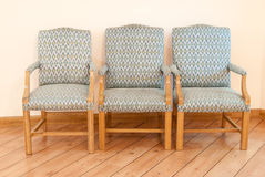 Three kitchen chairs furniture. In home Stock Photo
