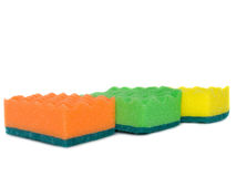 Three kitchen sponges Stock Images