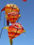 Three Kite Together. Kite Festival stock photos
