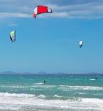 Three kites Stock Images
