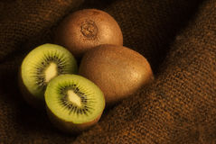 Three kiwi fruit Royalty Free Stock Photo