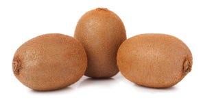 Three kiwi fruit on white isolated background Royalty Free Stock Images