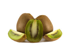 Three kiwi fruits with sigments Stock Photography