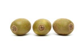 Three kiwi isolated on a white background Royalty Free Stock Photography