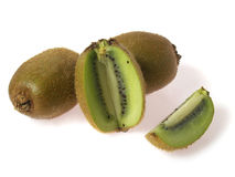 Three kiwi and piece Royalty Free Stock Photography