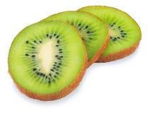 Three kiwi slice isolated Stock Photos