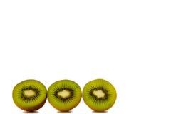 Three kiwi on white Stock Photography