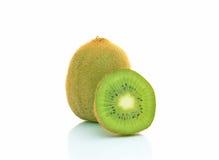 Three kiwifruit on white background Royalty Free Stock Image