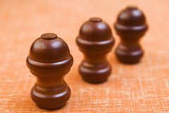Three knobs online Royalty Free Stock Image