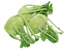 Three Kohlrabi Turnip Royalty Free Stock Image