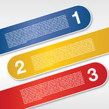 Three Labels Banners. Royalty Free Stock Photo