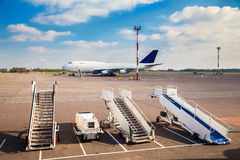 Three ladders in the airport Royalty Free Stock Images
