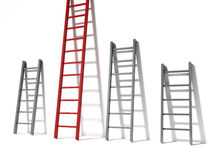 Three ladders, concept success Royalty Free Stock Photo