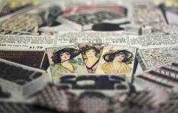 Three ladies stock photography