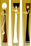 Three lady. Royalty Free Stock Photos