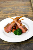Three lamb cutlets Royalty Free Stock Photos
