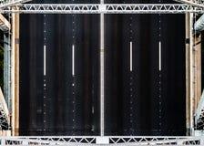 Three Lane Road Overhead Royalty Free Stock Photos