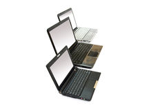 Three laptops Royalty Free Stock Photography