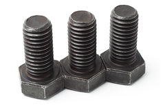 Three large bolts Royalty Free Stock Image