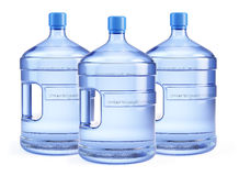 Three Large bottle of pure water Royalty Free Stock Photo