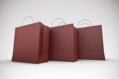 Three large shopping bags Royalty Free Stock Photography