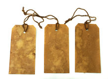 Three large stained tags Stock Images