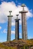 Three large swords Stock Image