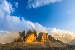 The Three Lavaredo peaks Royalty Free Stock Image