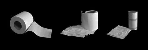 Three lavatory rolls Stock Image