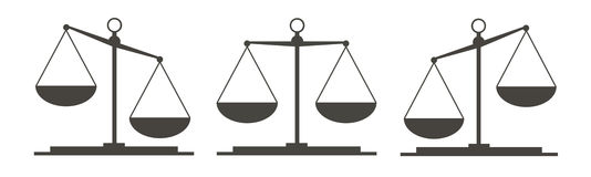 Three law scales Royalty Free Stock Photo
