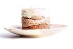 Three-layer ice cream Royalty Free Stock Photo