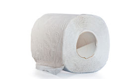 Three layer roll of toilet paper Stock Images