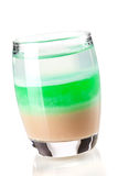 Three layered shot drink Stock Photo