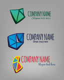 Vector logos. Layered vector logos for multi industry use stock illustration