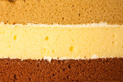 Three layers cake Stock Photos