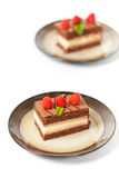 Three Layers Chocolate Cake Royalty Free Stock Photos