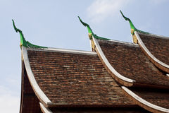Three layers of Gable Apex Royalty Free Stock Photos
