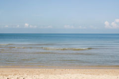 Three layers of the nature. Sky, sea and sand Royalty Free Stock Photos
