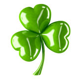 Three leaf clover. 3d shiny leaf clover for your St.Patrick's Day design Stock Photos