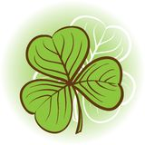 Three leaf clover illustration Stock Photos