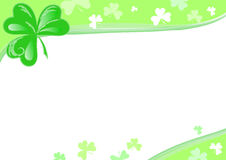 Three Leaf Clover page. Page with Three Leaf Clover. Vector illustration for St. Patricks Day Stock Images
