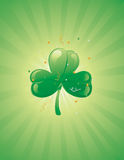 Three leaf clover on a retro background Royalty Free Stock Photos