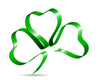 Three leaf clover shape from ribbon Stock Photo