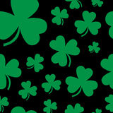 Three leaf clover tiled background Royalty Free Stock Images