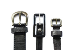 Three leather belts Royalty Free Stock Image