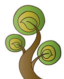 Three Leaves Tree. Vector illustration of a perfect tree Royalty Free Stock Image