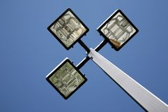 Three LED Street Lamps Stock Images