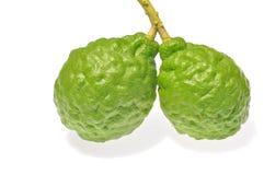 Three leech lime fruits royalty free stock photos